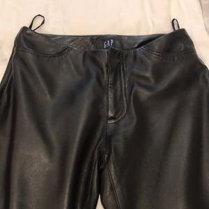 Gap size 8 leather pants – black